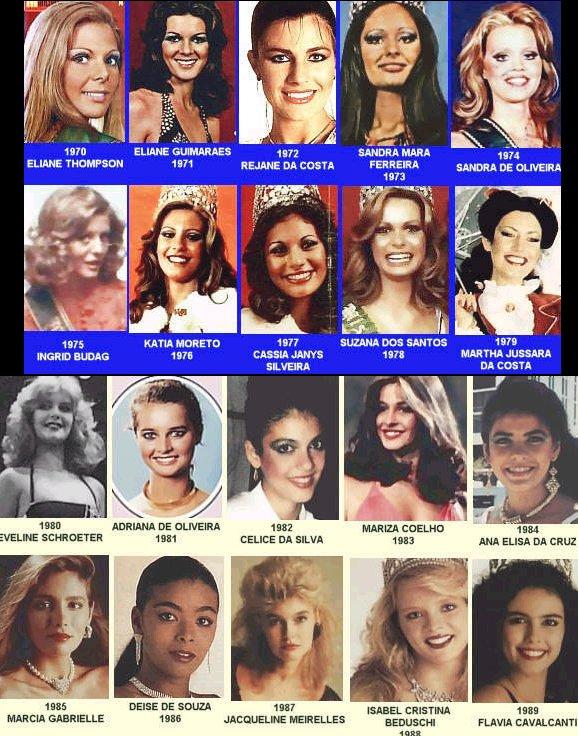 Miss Brasil 1970-1989