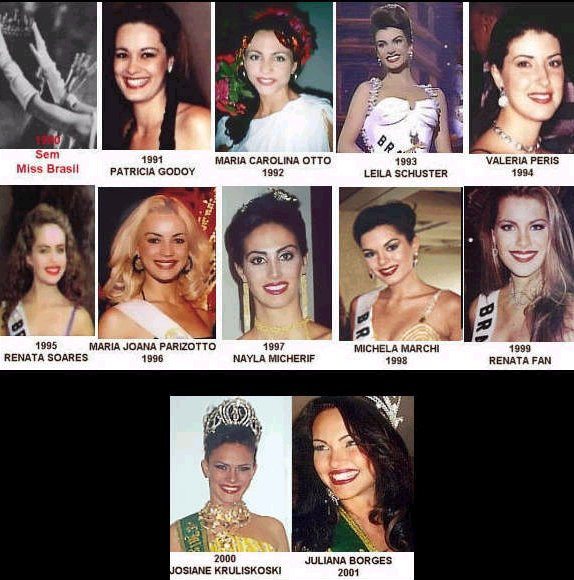 Miss Brasil 1991-2001